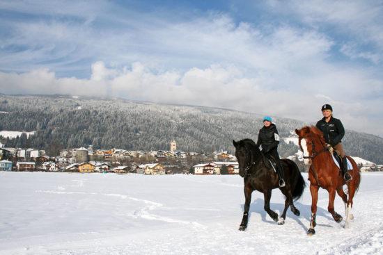 Winterreiten - Langlaufen in Radstadt, Salzburger Land